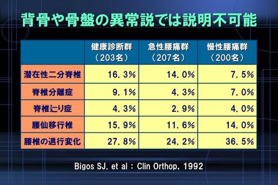 (Bigos SJ.et al:Clin Orthop,1992)  作成TMS-Japan